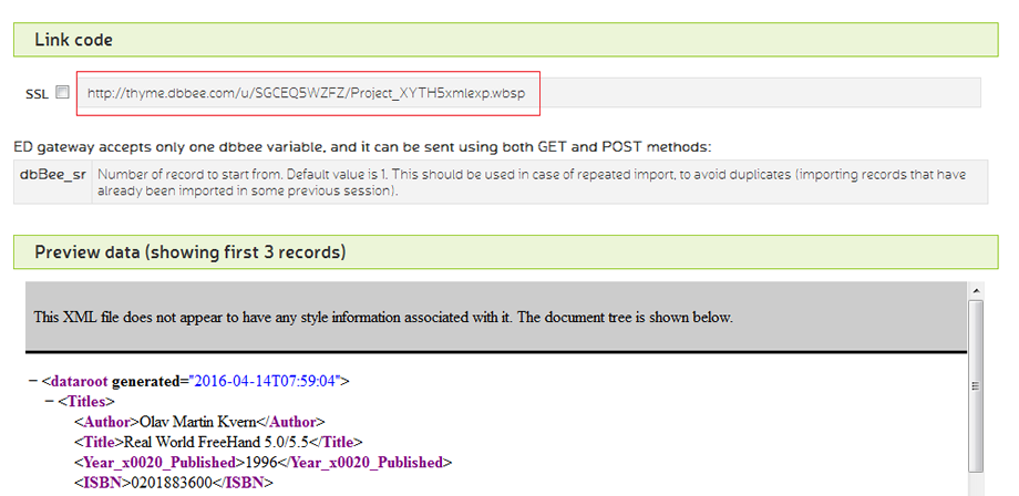 2.From get code screenselect and copy the URL of the ED application
